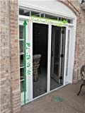 Double Door Retractable Door Screen, Up to 82' Tall & 72' Wide
