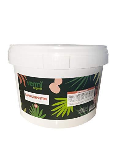 VERMIORGANIC Rapid Composting, 4L. Acelerador Orgánico de Compost, Apto para Agricultura ecológica.