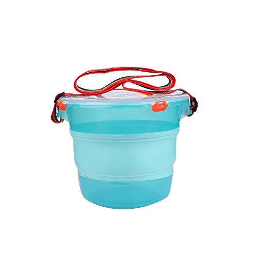 Huishoudelijke Opvouwbare Hengelsport Bucket, Folding Siliconen emmer water doorzichtige plastic Grote Ronde emmer met deksel en riem, geschikt voor outdoor reizen Viskunst, Etc