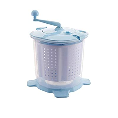 Portable Manual Washing Machine Hand-operated Washing Machine Hand Cranking Mini Washer Non-electric For Camping Dorms Apartments