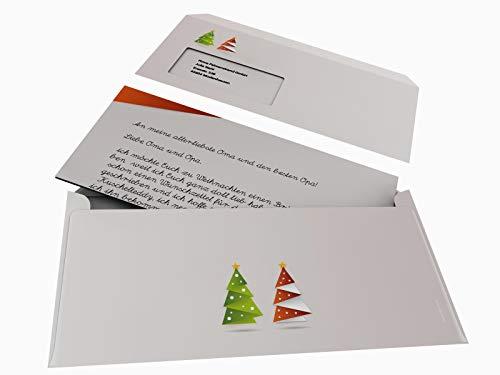 'Navidad Papel de carta con sobres Origami Rojo, 50hojas A4+ 50passende Ventana de co DIN Largo