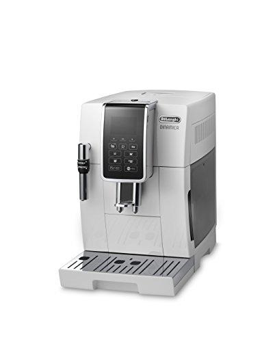 DeLonghi-DINAMICA-ECAM-35035W-Vollautomatische-Kaffeemaschine-18-l-wei–freistehend-Maschine-Espresso-Kaffeemaschine-wei-LCD-Display-18-l