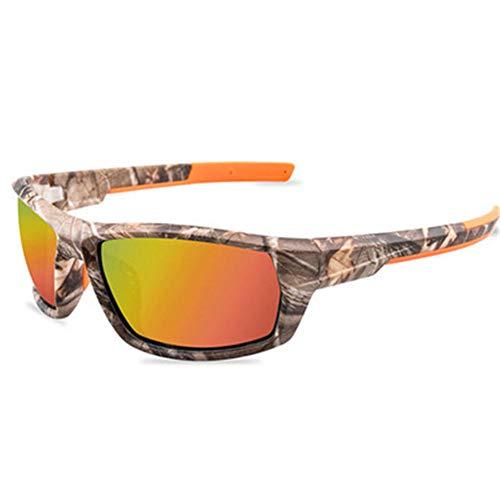 ZYIZEE Gafas de Sol Gafas de Sol de Pesca polarizadas para Hombre Montura de Camuflaje Gafas Deportivas para Ciclismo al Aire Libre Gafas para Acampar Masculinas UV400