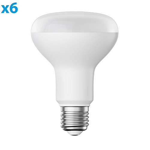 ledscom.de E27 R80 LED Reflektor-Lampe 9,5W =63W 850lm warm-weiß A+ auch wetterfest, 6 STK.