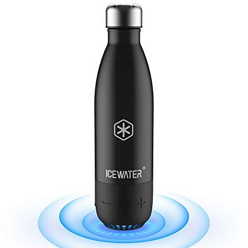 ICEWATER 3-in-1 Smart Water Bottle(Glows to Remind You to Stay Hydrated) (Black)