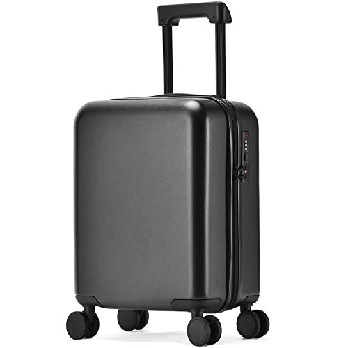GURHODVO Kids Luggage with Wheels Carry On Children Rolling Suitcase for kids Travel Pure Color (black)