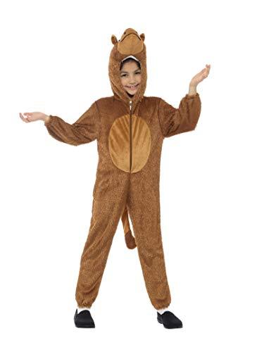 Smiffys-30806 Disfraz de Camello, con Traje Entero con Capucha, Color marrón, S-Edad 4-6 años (Smiffy