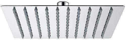 Ibergrif M20292 - Regendusche Duschkopf (250 * 250 mm), Eckig Brausekopf, Edelstahl, Quadrat