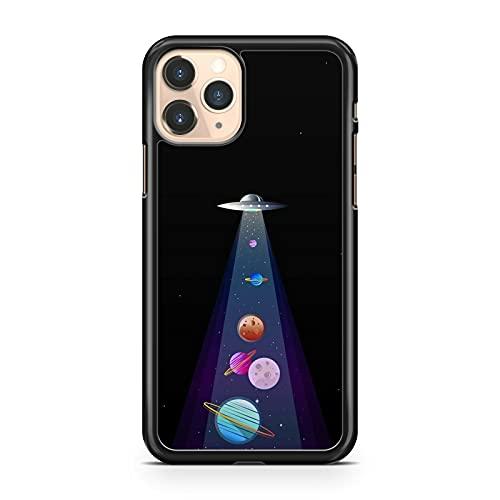 Elegante UFO Spaceship Colorido Planetas Vía Láctea Galaxy Space Carcasa Carcasa (Modelo de Teléfono: Compatible con Apple Compatible con iPhone 5S)