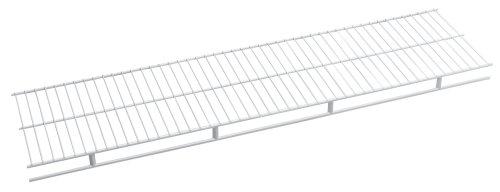 ClosetMaid 1341 Rod Wire Shelf, 4-Feet by 12-Inch