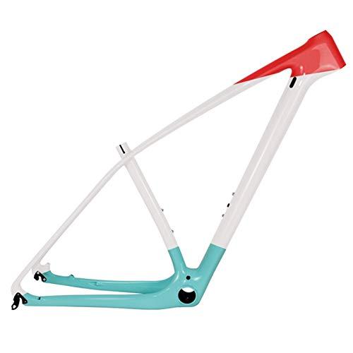 PPLAS T1000 Ful MTB Frame 27.5er 29er Ultralight Mountain Bike Carbon Frame PF30 Tamaño 15/17/19/21' (Color : Celeste Glossy, Size : 29er 19inch)