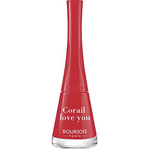Bourjois Nagellack, 1 Sekunde – 1 Nagel = 1 Schicht = 1 Sekunde – Trocknung in 50 Sekunden – 30 Koralle Love You 9 ml