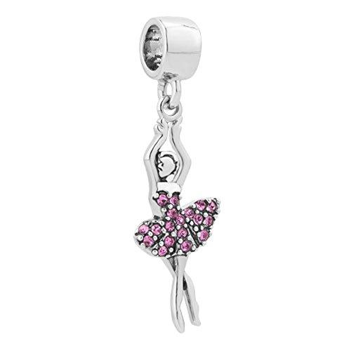 Sug Jasmin Ballet Dancer Charm Love to Dance Beads for Bracelets
