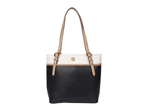 Anne Klein Pocket Tote Black/Nude One Size