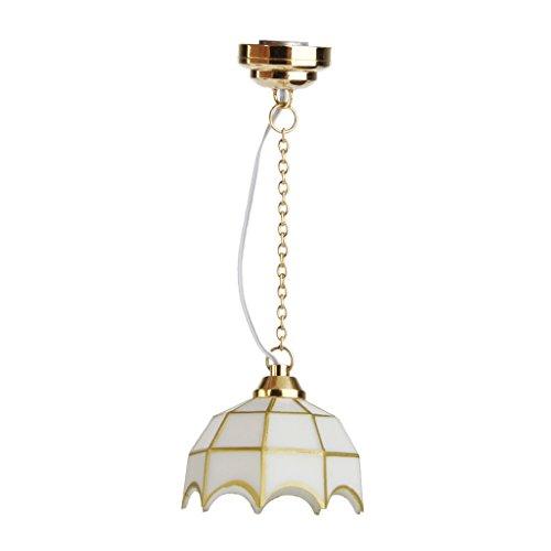 Sharplace Decoración de Lámpara de Techo de Araña LED en Miniatura de Casa de Muñecas 1/12
