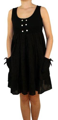 Saxx 08261 dames, dames linnen jurk, tuniek, top katoenen jersey stof, Valance katoen, Beige, bruin, rood, wit, blau, roze, M, L, XL, XXL.