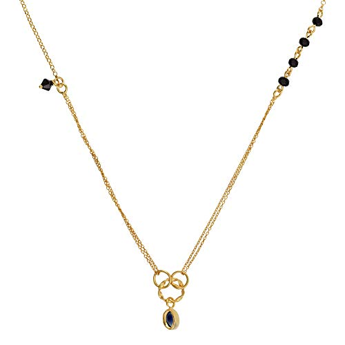Córdoba Jewels | Gargantilla en Plata de Ley 925 bañada en Oro con Piedra semipreciosa y Swarovski con diseño Elegant Onix Gold