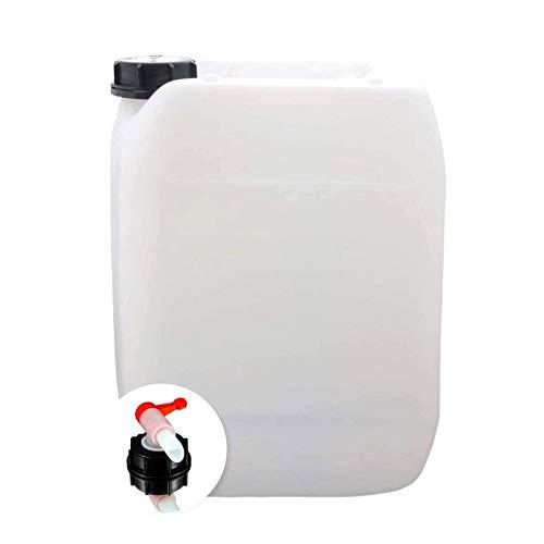 S-Pro Wasserkanister Trinkwasser mit Hahn, Lebensmittelecht, 10l für Haus, Garten und Camping Wasserbehälter, leer