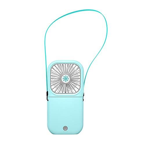 Lixada Ventilateur USB Portable Ventilateur de Cou Suspendu Ventilateur Pliant Mini Ventilateur Ventilateur à Lame Large