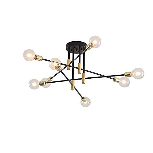 Candelabro de 8 luces iluminación colgante de oro candelabros Sputnik modernos accesorio de luz de techo industrial vintage para cocina sala de estar bar de hotel