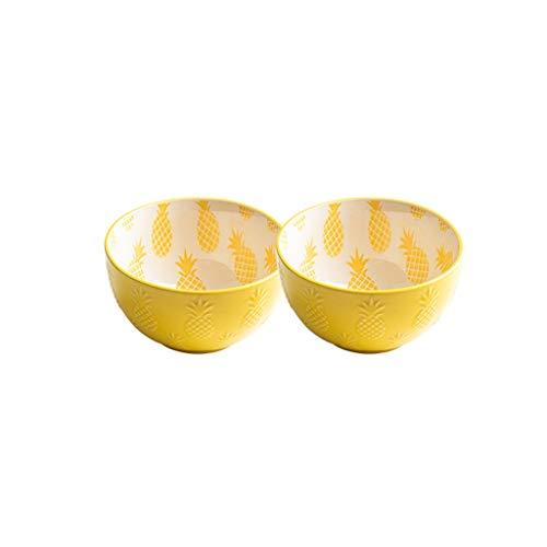 Eettafel geel ananas keramische kom 4,5 inch vaas keramiek avondeten vaas reliëf fruitschaal snack kleine schaal