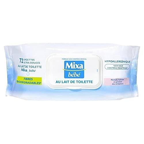 Mixa Bébé Lingettes au Lait de Toilette x72 (lot de 6 soit 432 lingette