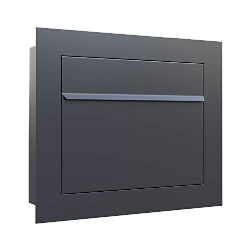 Unterputz-Briefkasten, Design Einbaubriefkasten Sora Anthrazit - Bravios
