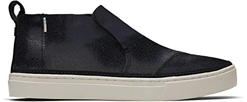TOMS - Mujeres Paxton Slip-On Zapatos, (Negro Metallic Crackle Suede), 38.5 EU