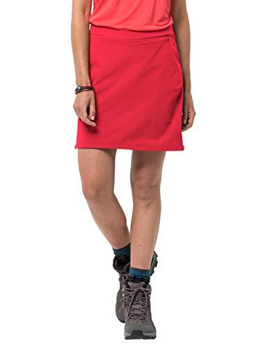 Jack Wolfskin Damen Hilltop Trail Skort, Tulip red, 38, 1505471