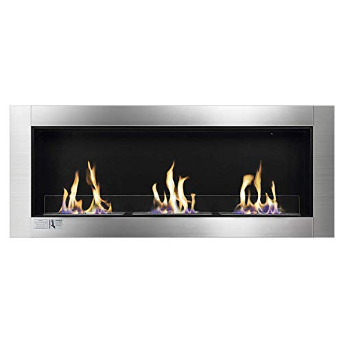 Why Choose Xbeauty Ventless Built in Recessed Bio Ethanol Fireplace with Safety Glass,Indoor Wall Mo...
