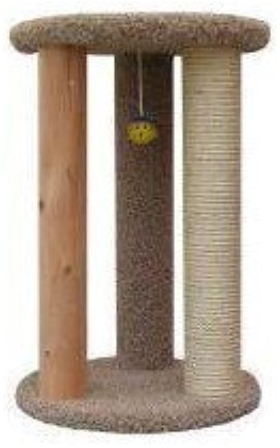 New Cat Condos Premier Round Multi Scratcher, Brown by New Cat Condos  DROPSHIP