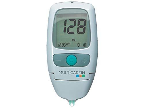 Multicare In - Kit Multiparametrico di Colesterolo, Trigliceridi e Glucosio, Manuale Italiano