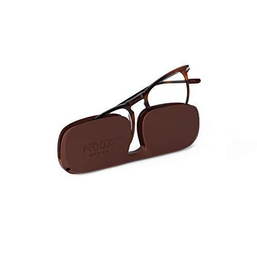 Nooz Lesebrille - Farbe Tortoise Korrektur +1.50 - Quadratische Form - Lupenbrille für Männer und Damen - Modell Dino Sammlung Essential