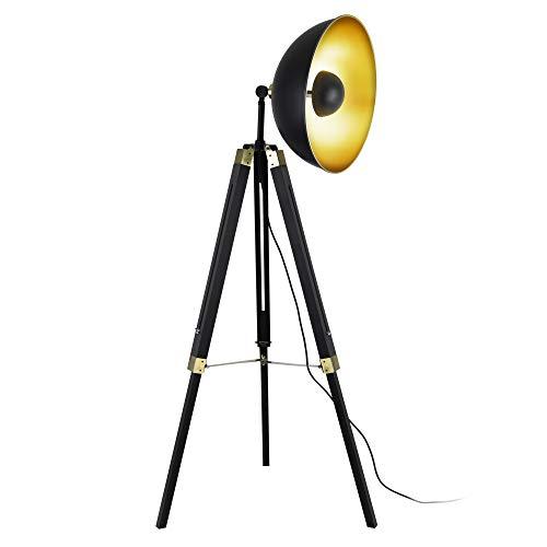 lux.pro Stehleuchte 'Ottawa' 148cm Stehlampe Tripod Standleuchte Studio-Scheinwerfer Stativ Lampe Metall