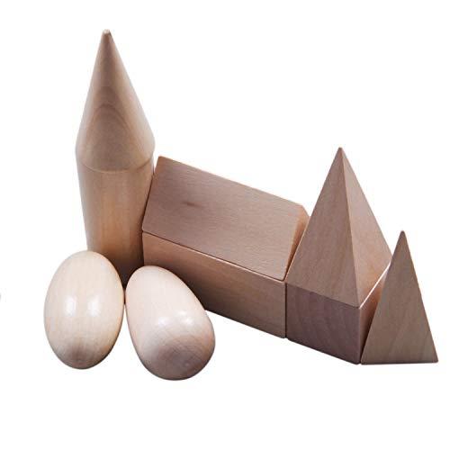 PAJKYQSL Bloc de Geometría de madera Montessori Mystery Bag Juego de juguetes cognitivos educativos