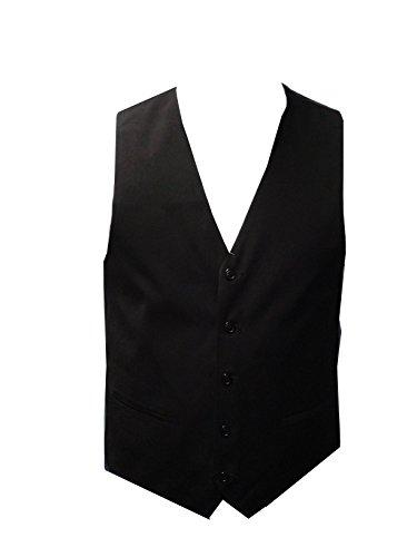 Elegance1234 Elegance Hommes Noir Gilet Haute de la Rue des Hommes (XXL)