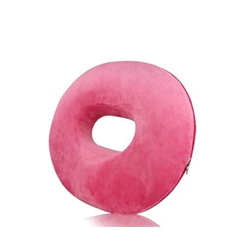CANDYANA Cojín Donut Ring Cojín Ortopédico De Espuma Viscoelástica Cojín Antiescaras para Aliviar La Presión De Las Hemorroides,Rosado,45x41cm