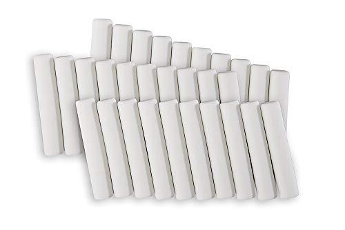Genie E110 30 Stück Ersatzradiergummis (Ø 5 mm) für elektrischer Radierer, geeignet für alle batteriebetrieben Radiergummi und Stifte mit dem Maß, weiß