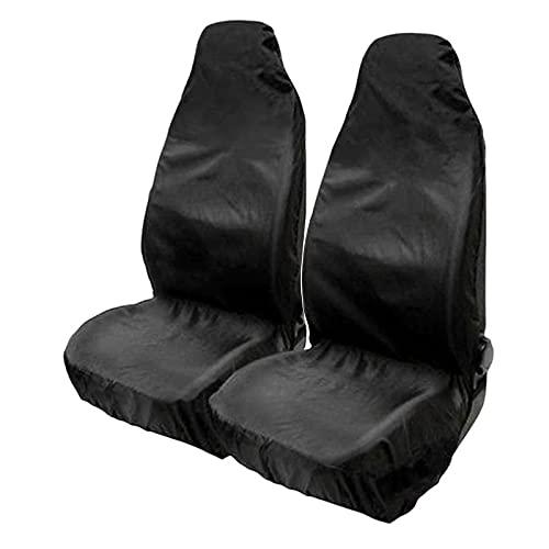 CONG 2 fundas protectoras universales para asiento de coche, funda protectora impermeable para asiento delantero del conductor