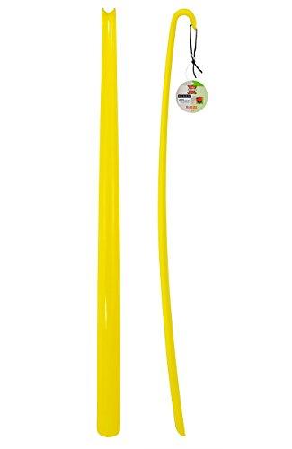 ASIS nettrade schoenlepel - schoenlepel - XXL - geel - 2 stuks - van hoogwaardig kunststof - extra lang - 77 cm