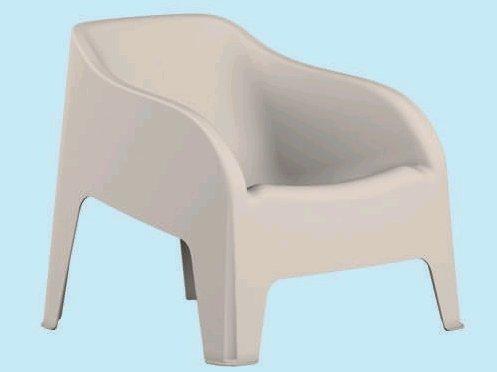 Toomax Poltrona Sedia da Giardino in resina PETRA Z185 colore BIANCO - 79x79x80H cm