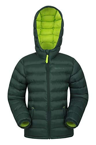 Mountain Warehouse Seasons Gepolsterte Jacke für Kinder, geeignet für alle Jahreszeiten - wasserdichte Winterjacke, leicht & warm Khaki 7-8 Jahre