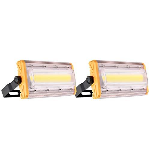 BAM - Store LED Flutlicht für Outdoor, 50W Sicherheitsbeleuchtung IP65 Wasserdicht 6000K-6500K Daylight Weiß Arbeits-Licht, 5000lm super helles Flutlicht für Garten Garage Lager,2 Pack
