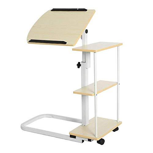 Bureaus DD Verstelbare Laptop Tafel, Draagbare Laptop Stand Winkelwagen Sofa Bed Tafel Multifunctionele Hoogte Verstelbare Overbed Tafel -Werkbank
