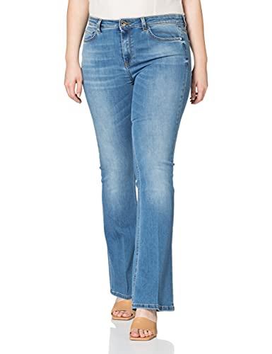 Pinko Flora 14 Jeans, F57_Blu-Zaffiro Stella, 34 Donna