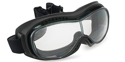 Eyewear Experts Padded OTG Motorcycle Goggles Fog Resistant Polycarbonate Lenses (Clear)