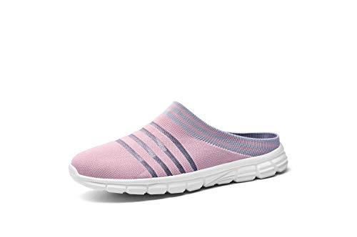 CLYCTIP Zapatillas deportivas de mujer Calcetines Zapatillas Deportes Caminar Gimnasio Running Zapatillas Elástic, color Rosa, talla 37 EU