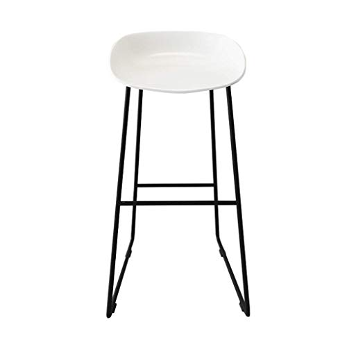 WSDSX Stuhl Moderne Barhocker Fußstütze Barhocker PP Plastics Sitz Esszimmerstühle für die Küche Business Office Restaurant Black Metal Legs (Farbe: Blau)