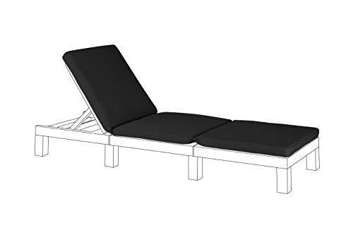 Gardenista Garden Sun Lounger Replacement Pad for Allibert Keter Daytona   Rattan Sunlounger Recliner Patio Furniture Cushion   Water Resistant & Lightweight   Hypoallergenic Fibre Filled (Black)