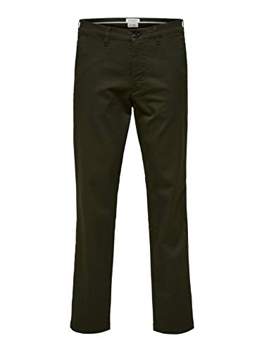SELECTED HOMME Herren SLHSLIM-Miles Flex Chino Pants W NOOS Hose, Forest Night, 32/32